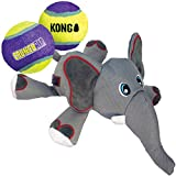 KONG - Cozie Ultra Elephant and 2 CrunchAir Balls - for Large/Medium Dogs