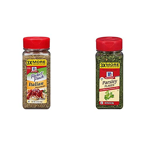 McCormick Perfect Pinch, Italian Seasoning, 2.25 oz & Parsley Flakes, 0.87 oz