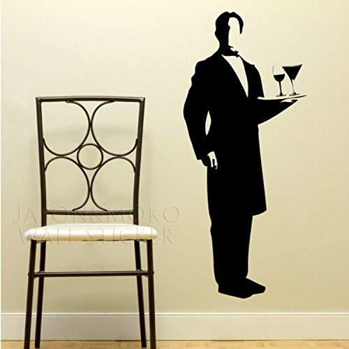 Waiter Butler Vinyl Art Wall Stickers Wall Decals Large Wall Art Murals Huge Mural Wallpaper