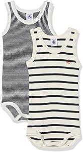 Petit Bateau X2 Sm Ico Conjunto de ropa interior, Multicolor (Special Lot 00), 56 (Tamaño del fabricante:3M) (Pack de 2) para Bebés