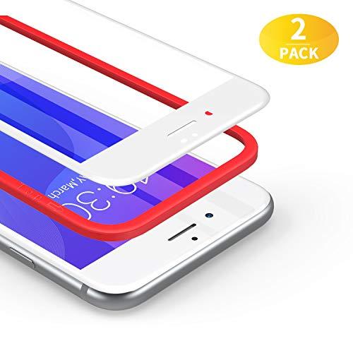 BANNIO für Panzerglas für iPhone 7/iPhone 8/iPhone SE 2020,2 Stück 3D Full Screen Panzerglasfolie Schutzfolie für iPhone 7/iPhone 8/iPhone SE 2020,9H Härte Displayschutzfolie,Blasenfrei,Weiß