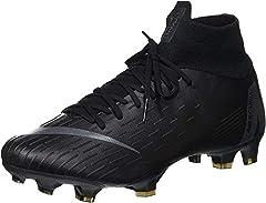Nike JR Superfly 6 Academy GS FG/MG, Zapatillas de Fútbol Unisex Niños, Negro (Black/Black 001), 32 EU