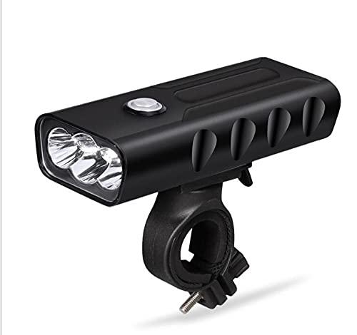 XIXIDIAN Luz de Bicicleta Recargable USB, farmanosa led Brillante con función de Banco de energía, Linterna de Seguridad de Ciclismo de Carretera