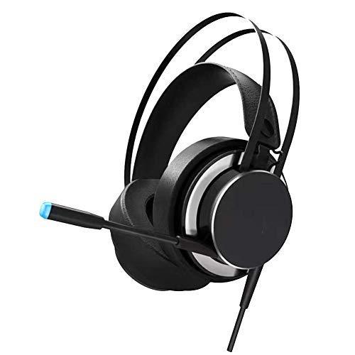 WZLJW Head-Mounted-Spiel-Kopfhörer 3,5 mm Stereo-Sound, Noise Reduction High-End Klangqualität, weich und komfortabel Earmuffs Kompatibel mit PC / PS4 / Xbox One/Schalter ggsm