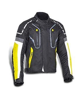 JET Chaqueta Moto Hombre Textil Impermeable con Protecciones Alto Rendimiento DAYTONA (XL (EU 52-54), Amarillo)