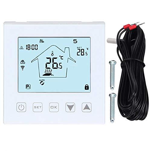 Duokon Thermostaat, LCD-touchscreen, wifi, vloerthermostaat, intelligente afstandsbediening, huistemperatuurregelaar, app, wifi, vloerverwarming, afstandsbediening, thermostaat AC100~240 V 50/60 Hz