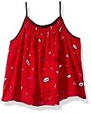 Calvin Klein Girls' Toddler Lip Print Tank, red, 2T
