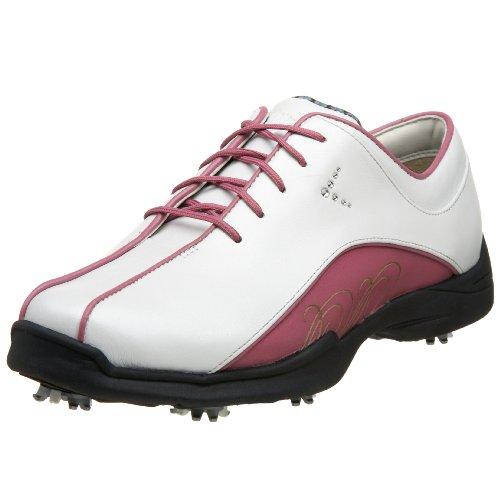 Callaway Women's Sivan Golf Shoe,White/Grape Nectar,5 M US
