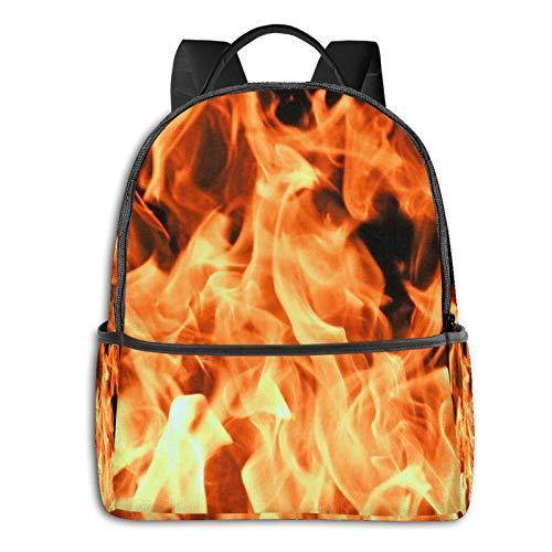 School Backpack for Men Women Teenager Daypack Fit 15.6 Inch Laptop Satchels Rucksack, Fire Burning Campfire 15 Casual Travel Backpack