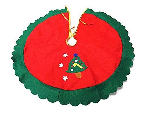 Hemore A 60 Centimetri Gonna Albero di Natale Rosso Natale Addobbi e Decorazioni per ricorrenze