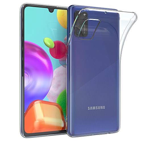 EAZY CASE Hülle kompatibel mit Samsung Galaxy A41 Schutzhülle Silikon, Ultra dünn, Slimcover, Handyhülle, Silikonhülle, Backcover, Durchsichtig, Klar Transparent
