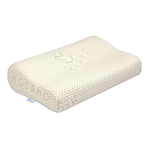MOSAMO Almohada Ortopédica - Almohada Enrollable, de Espuma termoelástica, con Funda de Almohada - Óptima contra la tensión y el Dolor de Cuello, también para alérgicos - 48x33x11 cm