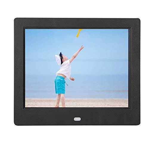 Sxhlseller 8 Zoll Digitaler Fotorahmen - W-LAN Digitaler Bilderrahmen mit Körperbewegungserkennungsfunktion Geschenk für Familien und Freunde(EU)