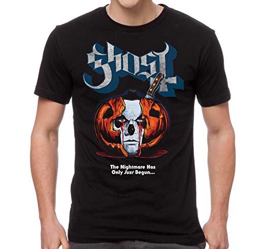 Ghost Men's Pumpkin Surprise Orange Logo T-Shirt Black 2XL