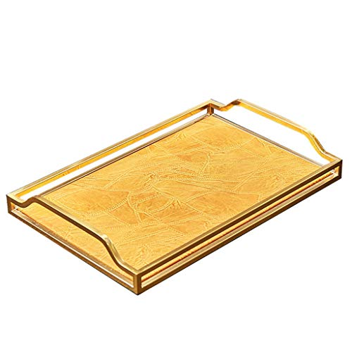 YOYO Vanidad Bandeja Decorativa de la PU Cuero, Perfume Bandeja Organizador, señora Jewelry Bandeja Bandeja de baño for la decoración casera (Color : Orange)