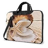 Seashell Pearl Adults Student 15.6 in Laptoptasche Notebook Schutzhülle Handtasche Umhängetasche