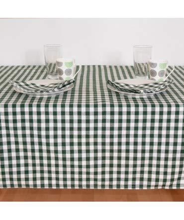 manteleria Check Picnic vert 150cm x 250cm + 12 servilletas