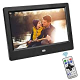 VBESTLIFE Cornice Digitale da 7 Pollici Elettronico Digitale Immagine/Foto HD LED Screen Digital Photo Frame Sveglia con Telecomando per Casa Ufficio(Black)