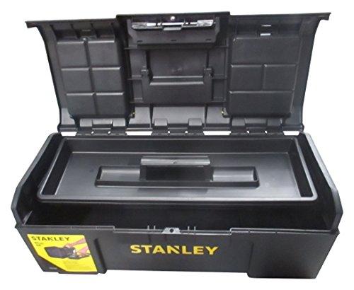 Stanley 1-79-218 Boîte à outils 60 cm Ouverture 1 Main - système touchlab - structure robuste - large capacité de rangement - porte outils amovible - poignée antidérapante