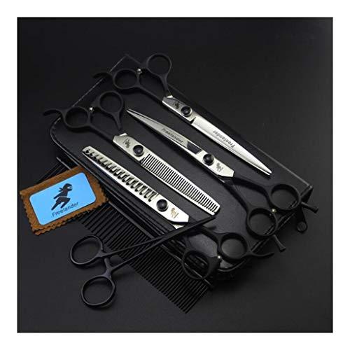 AF Tijeras Tijeras de peluquería Canina de 7 Pulgadas: Tijeras for Doblar y for Uso Dental Tijeras de Espina de Pescado y Acero Inoxidable de 6 Piezas