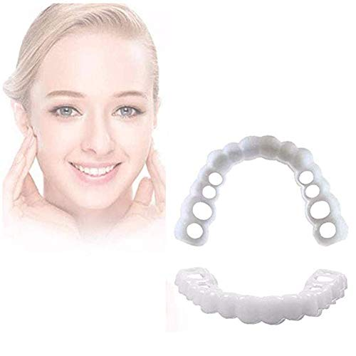 ZYXBJ Dientes de una Sola Placa dentaduras postizas cómodas Momentos Sonrisa cómodo...