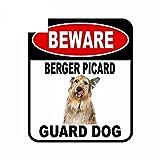 A/X 13 cm x 11 cm Cuidado Berger Picard Guard Perro Etiqueta engomada del Coche Cubierta Rasguños Signo Compuesto Mascota