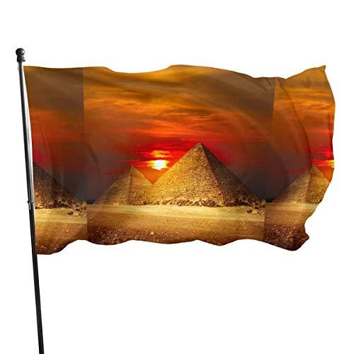 YANXIE 3x5 Fuß amerikanische US-Flagge Sonnenuntergang Große Pyramide von Gizeh
