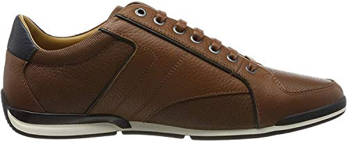 BOSS Herren Saturn_Lowp_tbpf1 Sneaker, Braun (Medium Brown 212), 43 EU