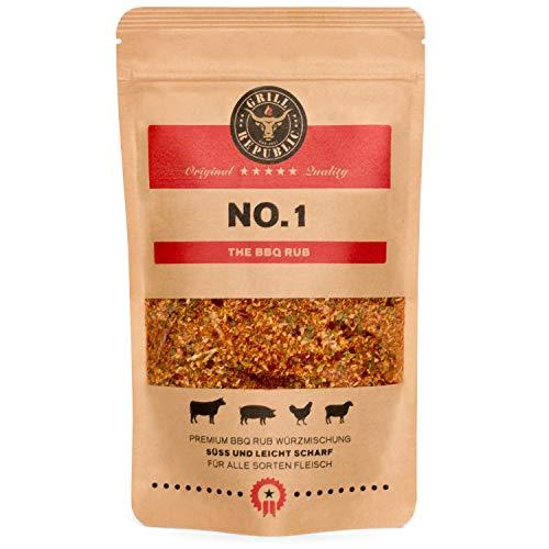 BBQ-Rub Gewürzmischung No. 1 von Grill Republic / Premium BBQ-Gewürz für alle Sorten von Fleisch / Geeignet für Smoker, Grill, Ofen und Pfanne / 250g