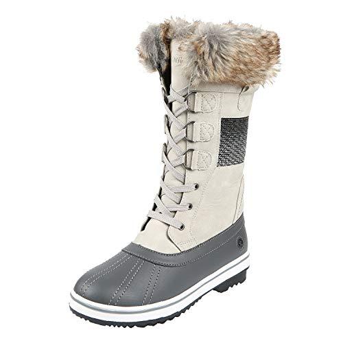 Northside Women's Bishop Mid-Calf Cold Weather Fashion Boot, Birch, 10 M US