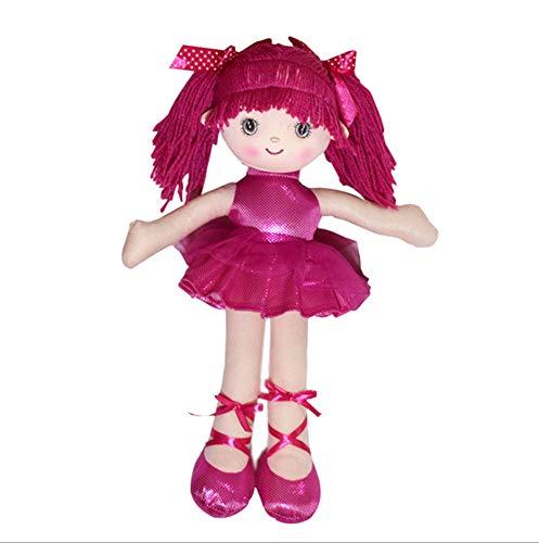 LAARNT Muñeca de Trapo de Ballet de 40 cm, muñeca de simulación Rosa roja, Regalo de niña de Juguete para niños, Esponja Suave y cómoda