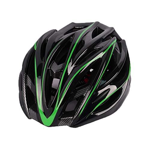 Angyu Casco de Bicicleta para Hombre con Visera Desmontable Casco de Ciclismo Ligero Protección Seguridad Tamaño Ajustable Carretera Montaña Adultos (Estilo 3,(54-63) cm)