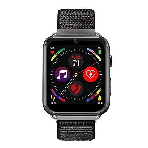 XMSZZ 2020 Nueva 4G Inteligente Reloj Android 7.1 1.88 Pulgadas 360 * 320 Pantalla 3 GB + 32 GB GPS WiFi 780mAh batería Grande SmartWatch Teléfono (Color : Black Nylon Strap)