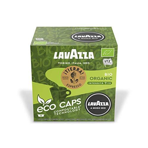 Lavazza A Modo Mio Eco Kaffeekapseln Espresso Tierra Bio, Kaffee Kapsel, Kompostierbar, 16 x 16 Kapseln