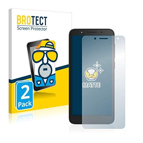 BROTECT 2X Entspiegelungs-Schutzfolie kompatibel mit Alcatel 1C 2019 Bildschirmschutz-Folie Matt, Anti-Reflex, Anti-Fingerprint
