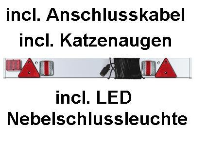 LED Rückleuchte Rücklicht Anhänger Lichtleiste Lampenbrett + Nebelschlussleuchte