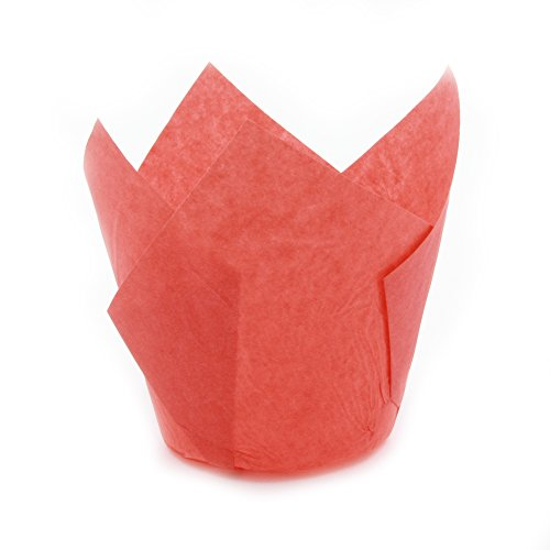 Red Tulip Baking Cups, Medium Size, Pack of 250