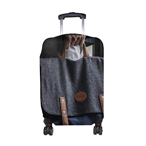 Man Window Backpack Pattern Print Travel Luggage Protector Baggage Suitcase Cover Fits 18-21 Inch Luggage
