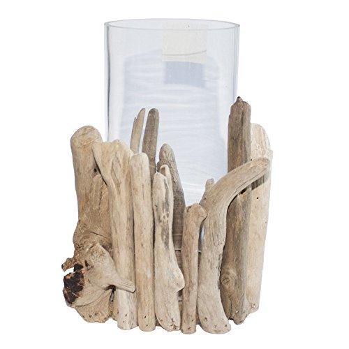 WINDLICHT | handgefertigt aus Treibholz-Ästen | mit Windschutz Glasröhre | Unikat | aus Bali/Indonesien