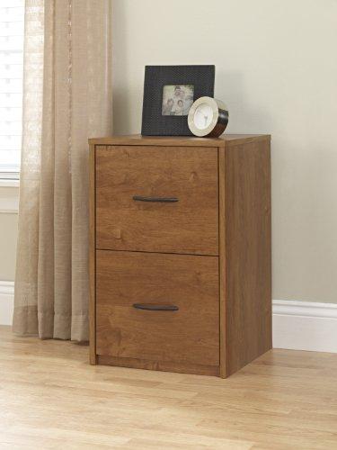 oak file cabinet 2 drawer - 2