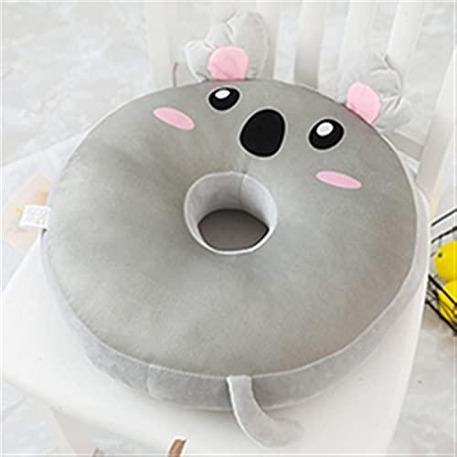 YANFANG Almohadas de Animales de rosquilla Rellenos Redondos □ Polla de Almohada Cojín Cojín Decoración Conejo Pierde Oso Penguin Polluelo Panda Panda Perro Koala (Color : Grey Koala)