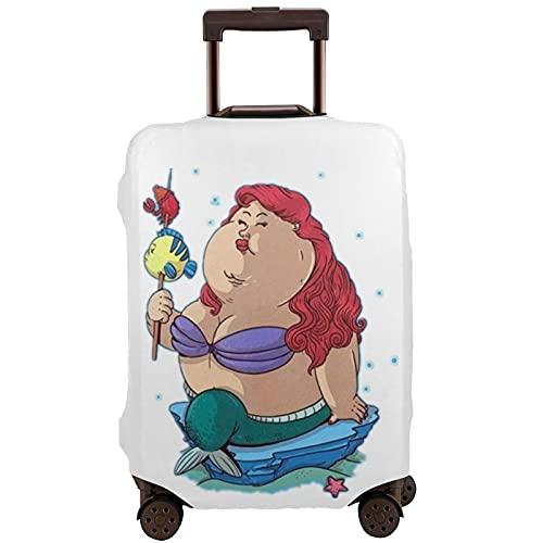 Coprivaligie protezioni per valigie Fat Mermaid18-82,3 cm di grandi dimensioni per valigia con ruote, multicolore, M