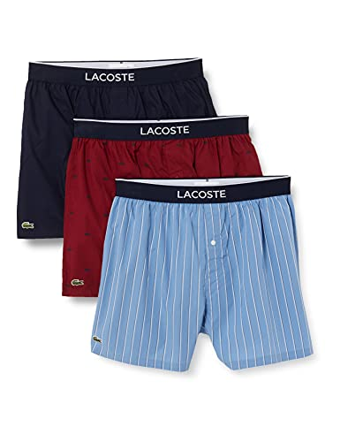 Lacoste 7H2101 Packung mit 3 Boxershorts für Herren, HKQ, Multicolor, XL