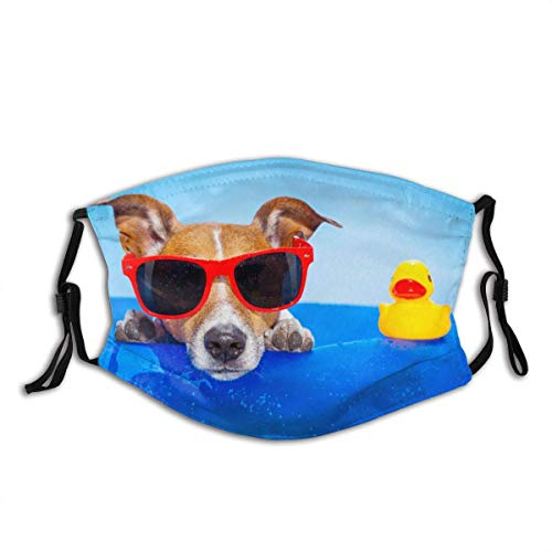 Munds-chutz Gesichtss-chutz Jack Russell Hund auf Matratze Ozean Bandana...