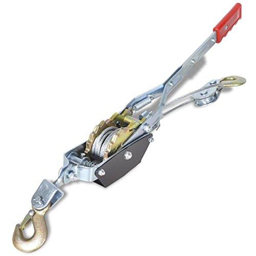 UnfadeMemory Seilzug mit zwei Haken Eisen Handseilzug Flaschenzug Handwerkzeug für Boote, Industrie oder Autoanhänger (Zuglast 1000 kg)