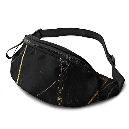 Fantastic Fairy 3D Stylish Gold Marbling Texture Waist Pack/Fanny Pack/Travel Bag for Men Women Outdoors Sports Marathon Hiking