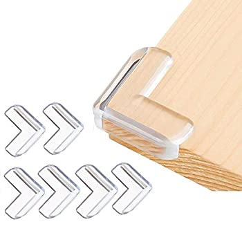 Corner Guards  12 Pack  Clear Corner Protectors High Resistant Adhesive Gel Best Baby Proof Corner Guards Stop Child Head Injuries Tables Furniture & Sharp Corners Baby Proofing  L-Shaped