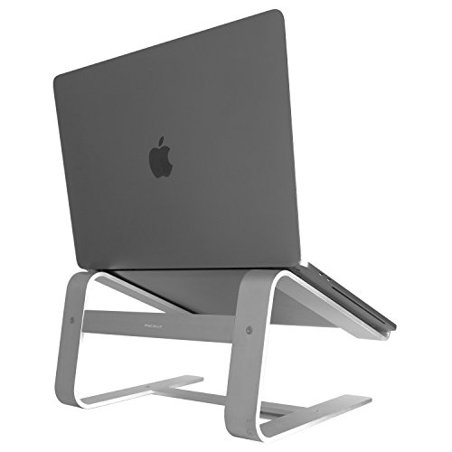 "Macally ASTAND aluminum laptop stand for Apple Macbook, Macbook Air, Macbook Pro and any laptop between 10"" to 17' - Silver"