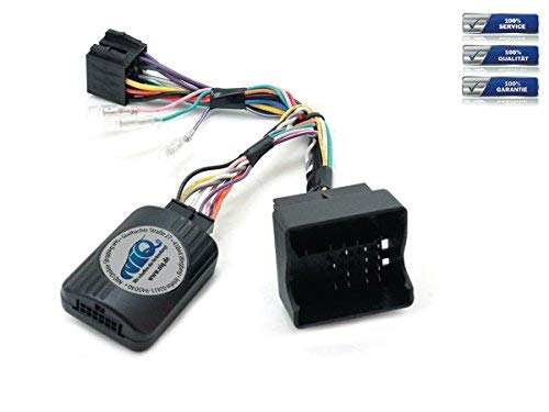NIQ Lenkradfernbedienungsadapter geeignet für PUMPKIN Autoradios, kompatibel mit Opel Astra / Antara / Corsa / Meriva / Signum / Tigra / Vectra C / Zafira