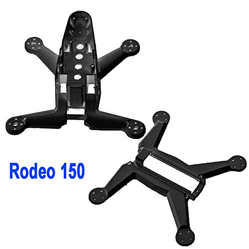Walkera Rodeo150 Racing Drone Spare Parts: 150-Z-04(W) Z-04(B) Rodeo 150-Z-04(B) Body Bottom + Rodeo 150-Z-02(W) Rodeo 150-Z-02(B) Body Shell - Black